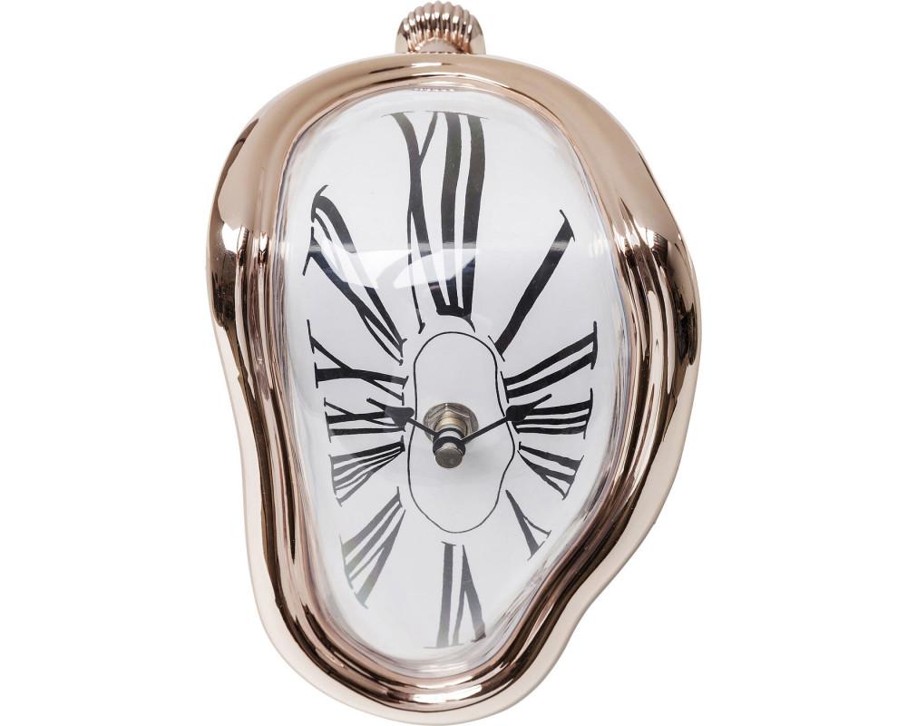 Часы настольные Flow Rosegold