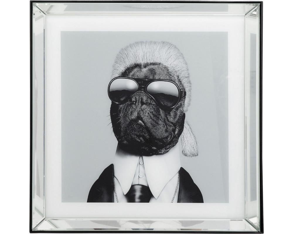 Картина зеркальная Designer Dog 60x60cm