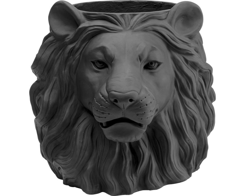 Кашпо декоративное Lion Black