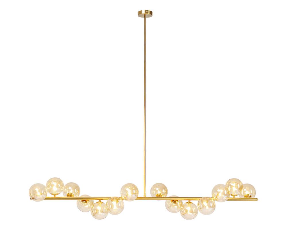 Светильник подвесной Scala Balls Brass 150cm