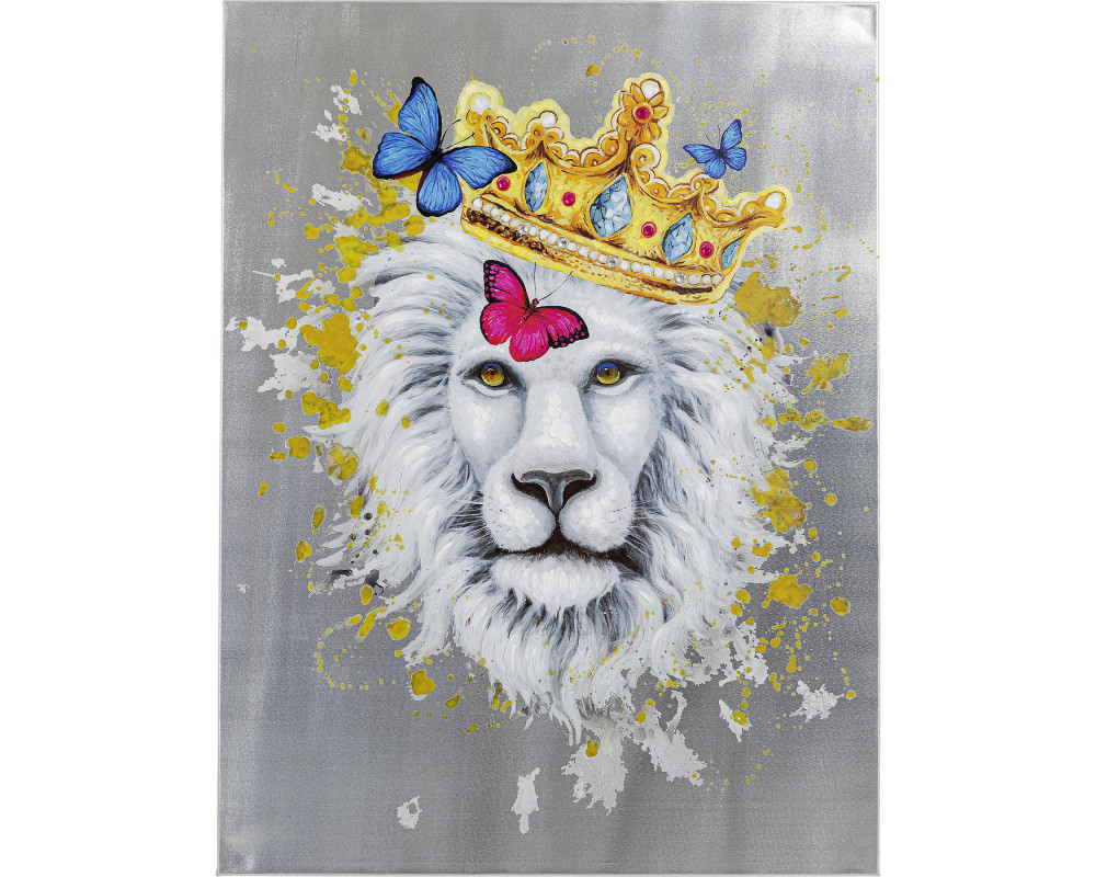 Picture Touched King of Lion 120x90