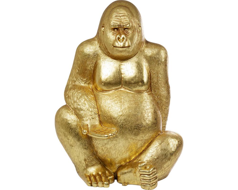 Deco Figurine Gorilla Gold XL 180