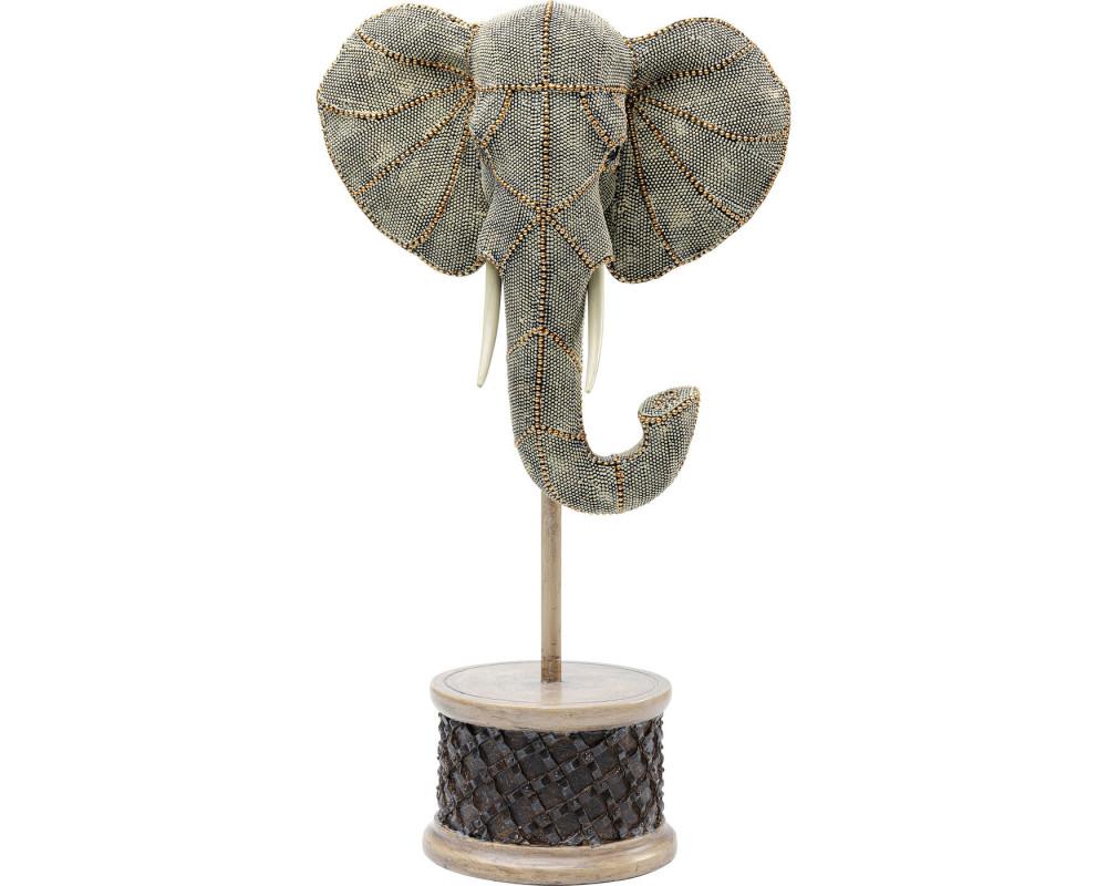 Deco Object Elephant Head Pearls 49