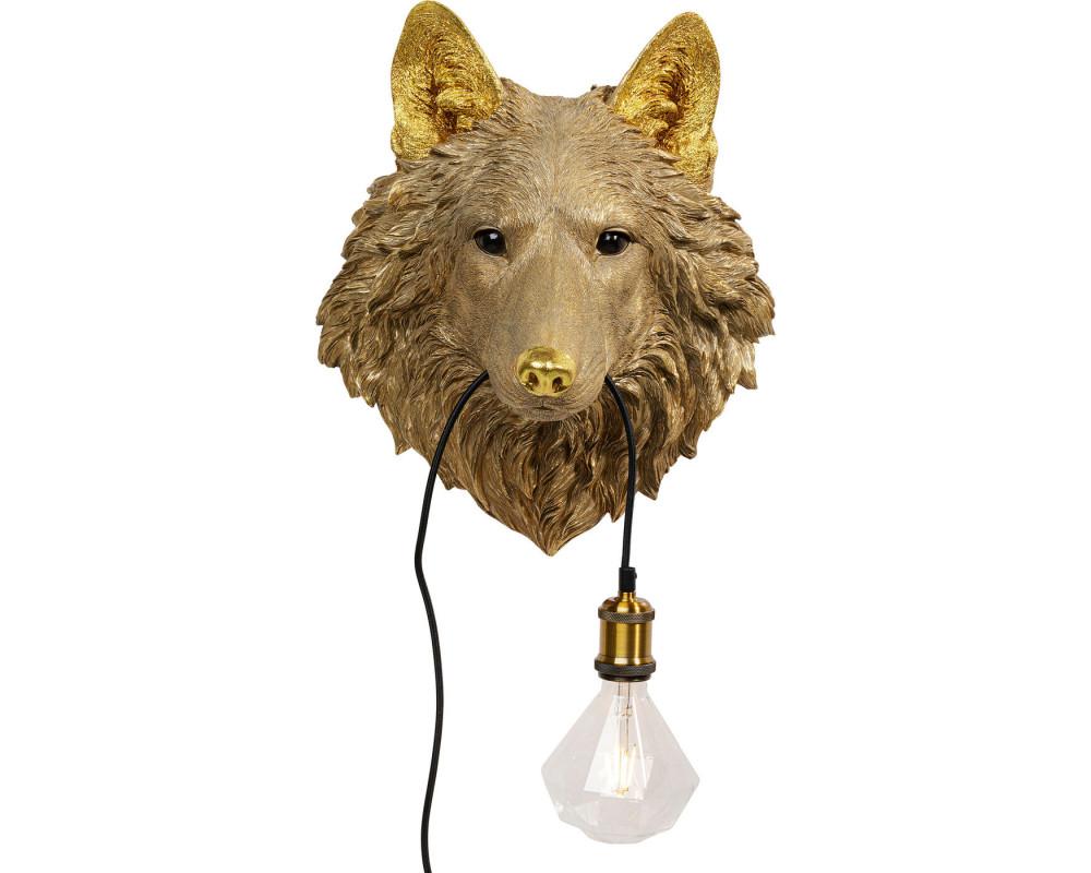 Wall Lamp Wolf Head