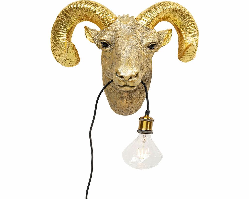 Wall Lamp Goat Head