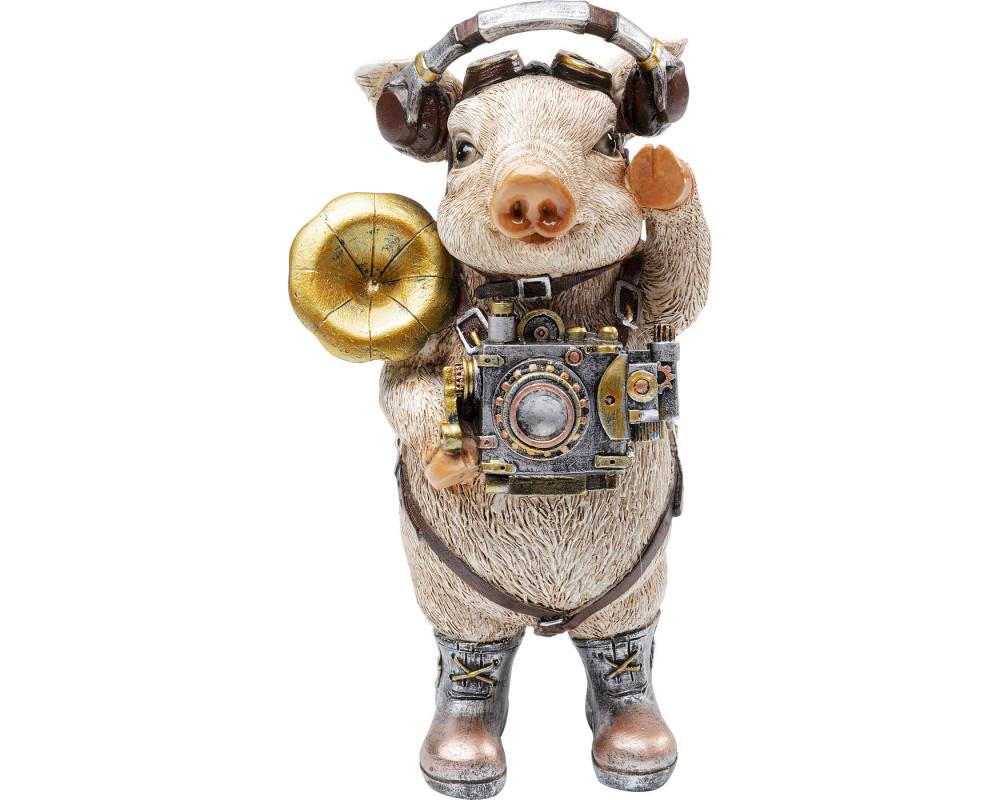 Deco Figurine Pig Musician