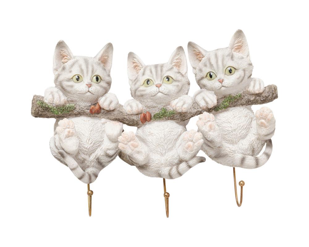 Wall Hooks Three Mini Cats
