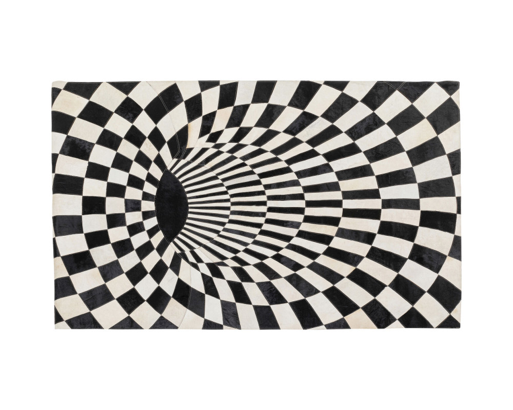Carpet 3D Creative Black White 170x240