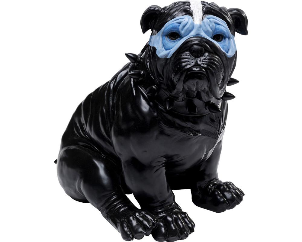 Money Box Blue Mask Bulldog Black