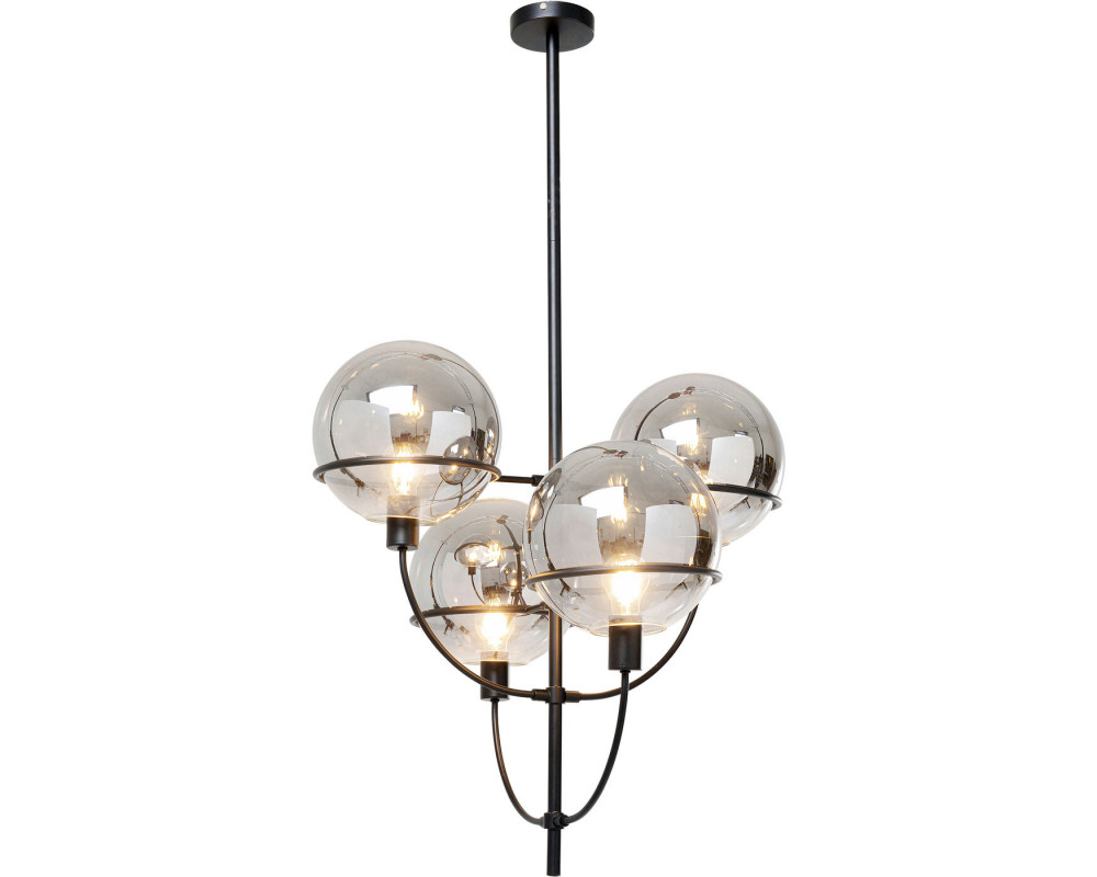Pendant Lamp Lantern 4rs Black