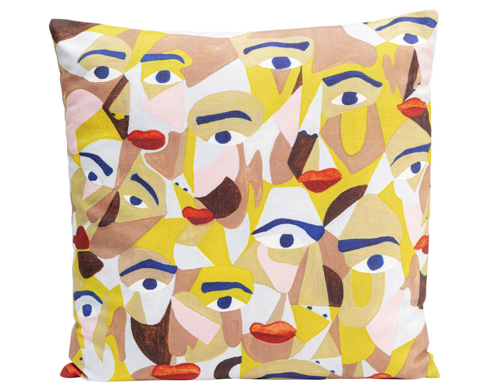 Cushion Artistic Faces 45x45