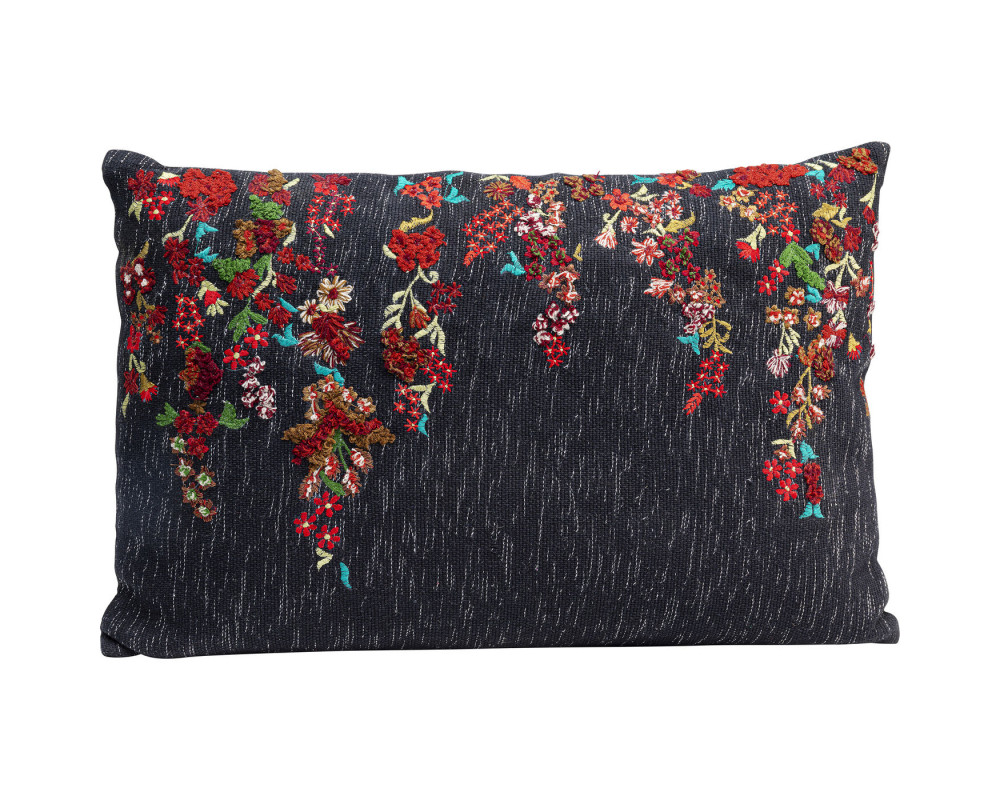 Cushion Embroidery Tendrils 60x40