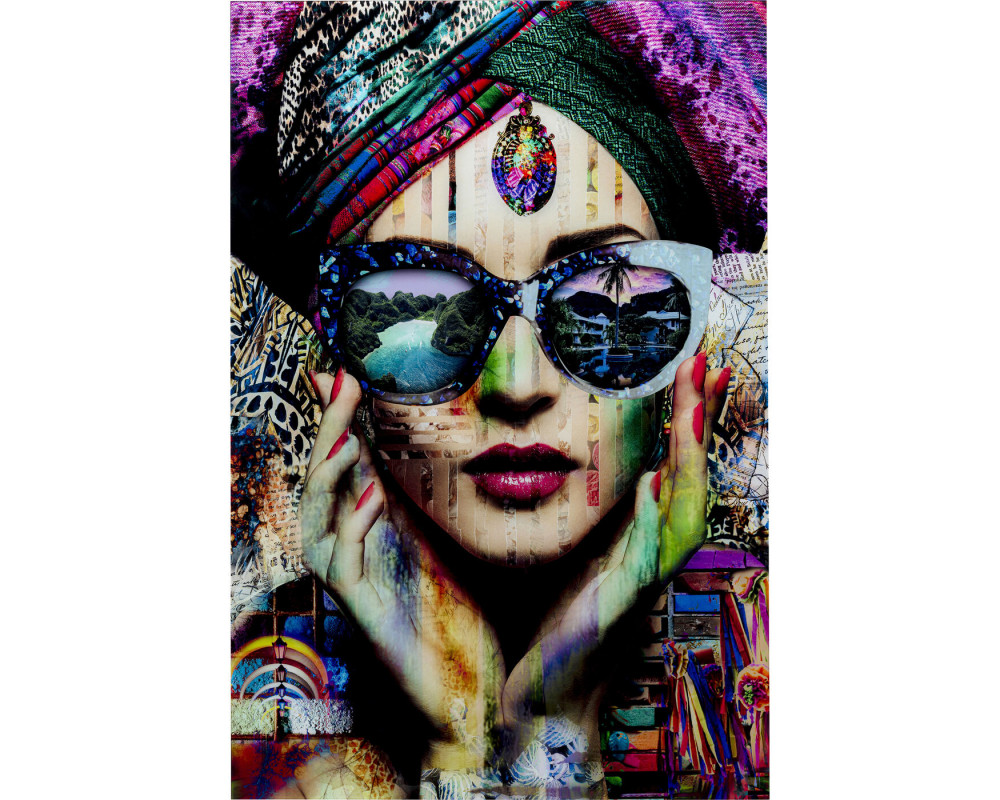 Glass Picture Colorful Artist 80x120