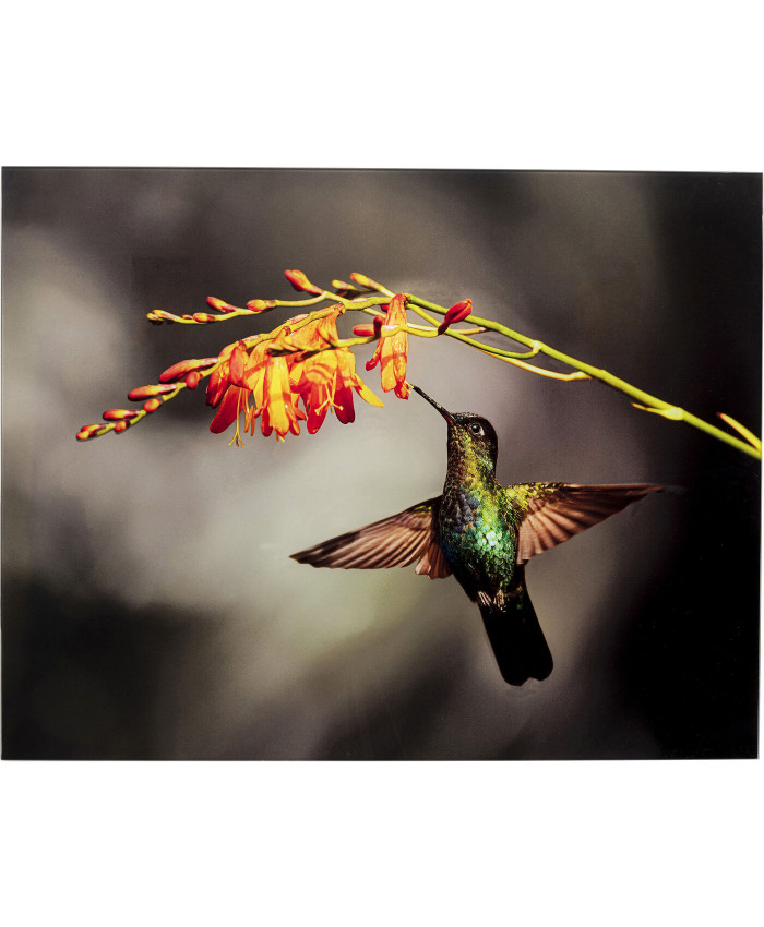 Glass Picture Cute Colibri 90x70