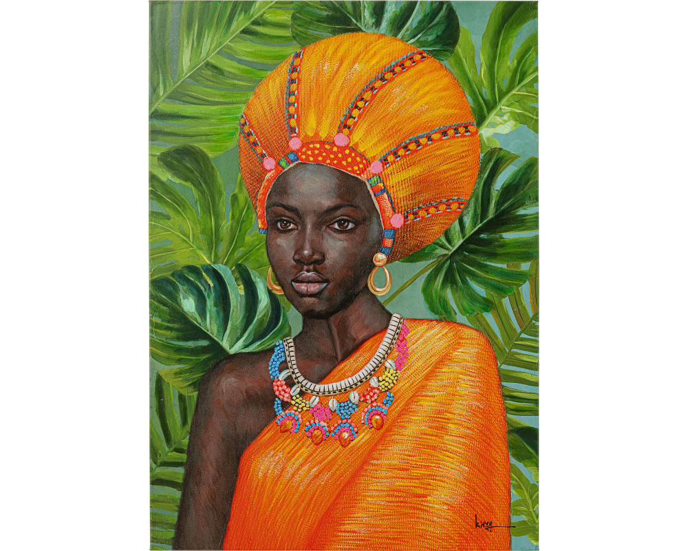 Canvas Picture African Beauty 70x100cm