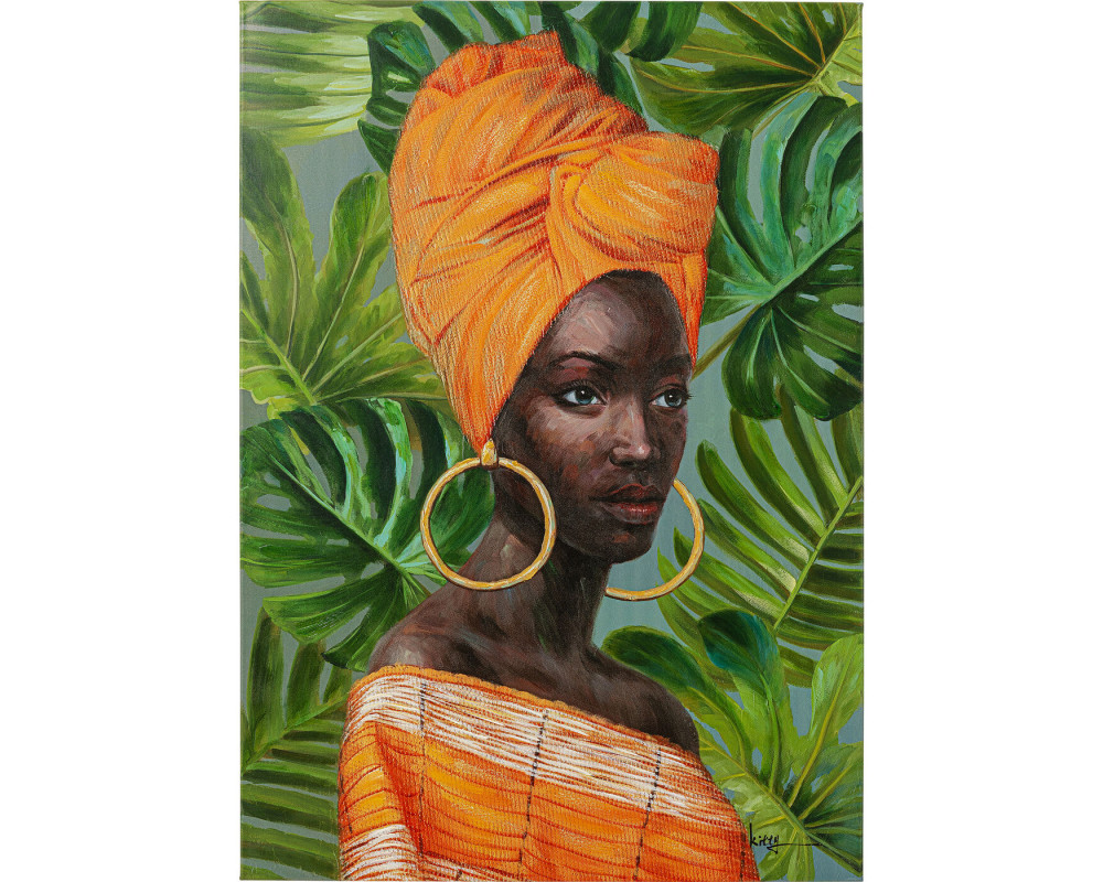 Canvas Picture African Lady 70x100cm