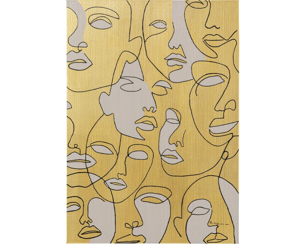 Canvas Picture Faces 70x100