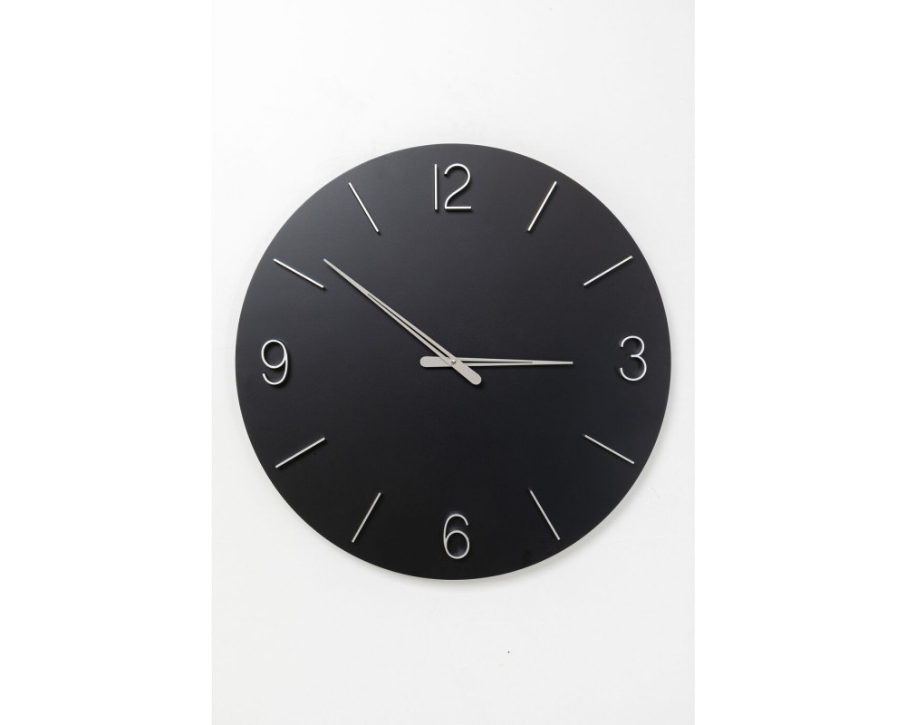 Wall Clock Oscar Black Ø60