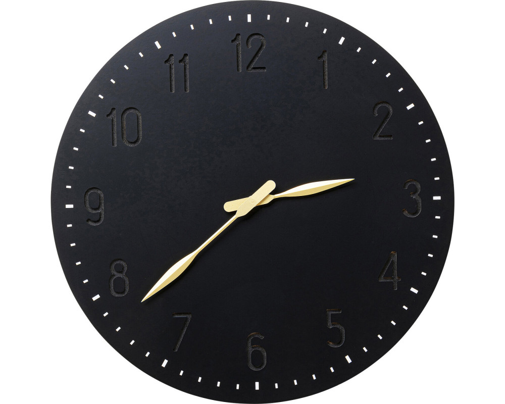 Wall Clock Mailo Black Ø50