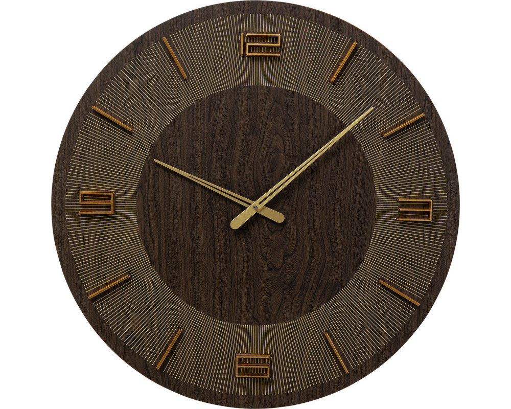 Wall Clock Levi Brown Ø60