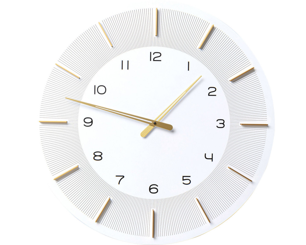 Wall Clock Lio White Ø60