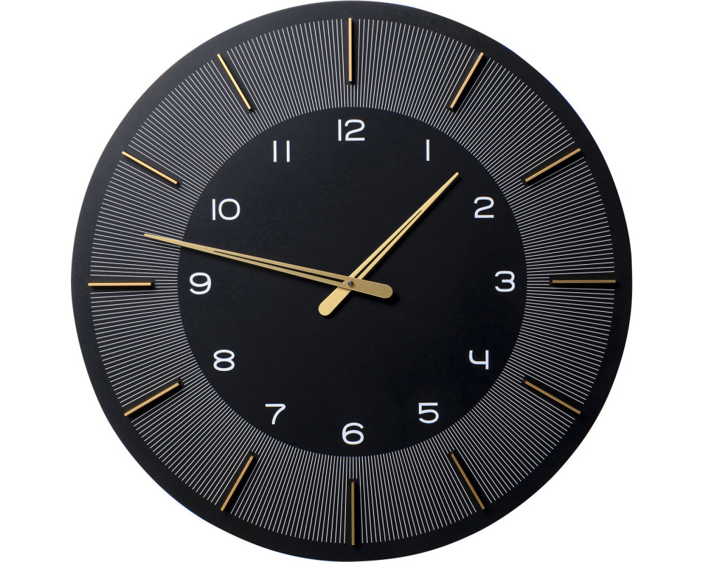 Wall Clock Lio Black Ø60