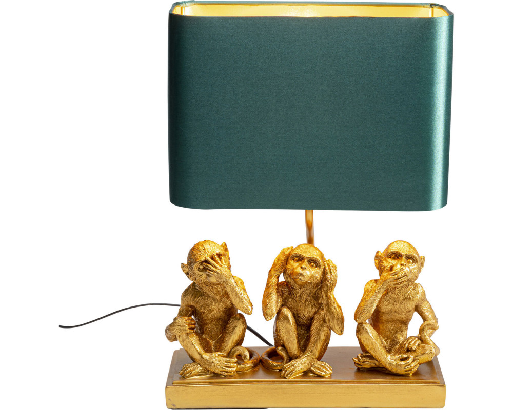 Table Lamp Animal Three Monkey Gold