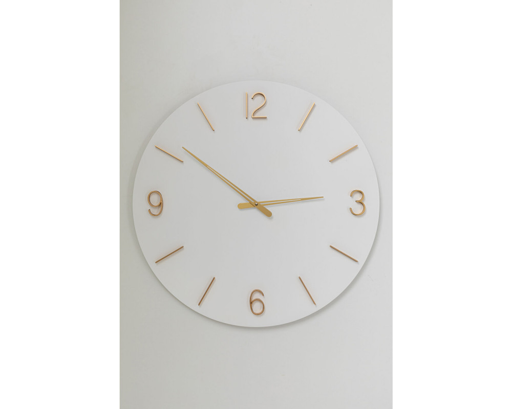 Wall Clock Oscar White Ø60