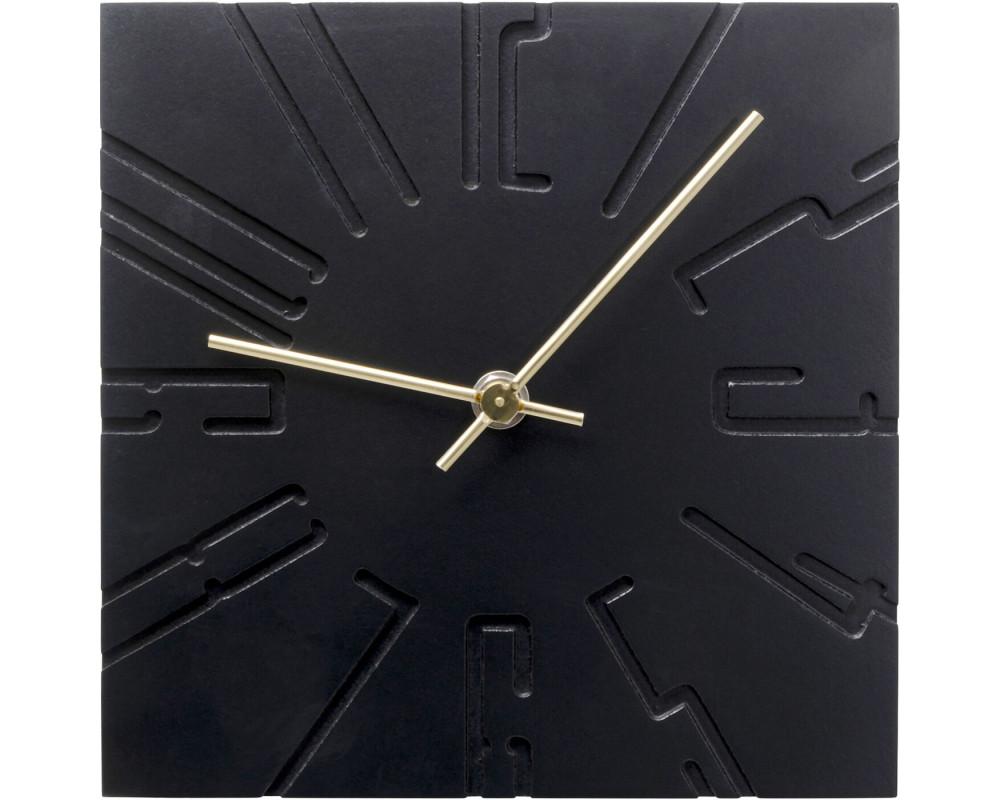 Table Clock Cubito Black
