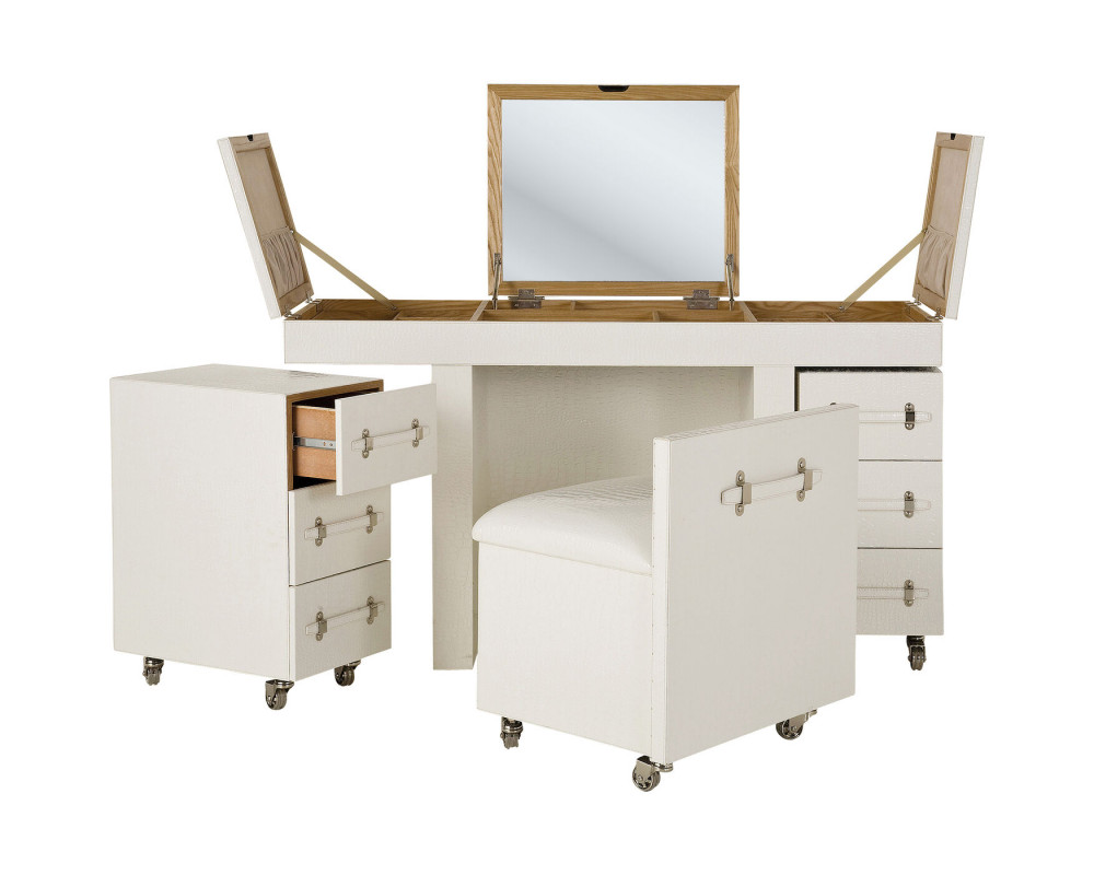 Стол для макияжа Make Up Diva croco white