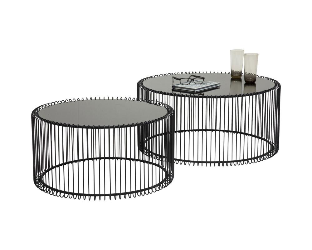 Стол кофейный Wire Black (2/Set)