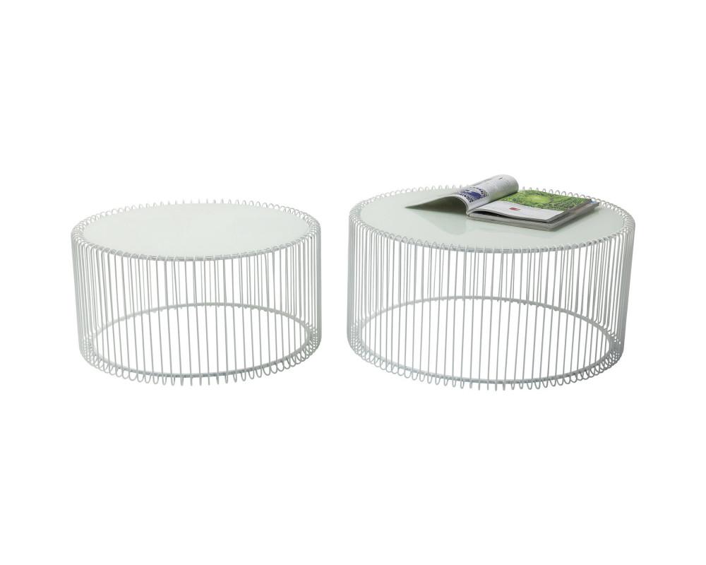 Стол кофейный Wire White (2/Set)