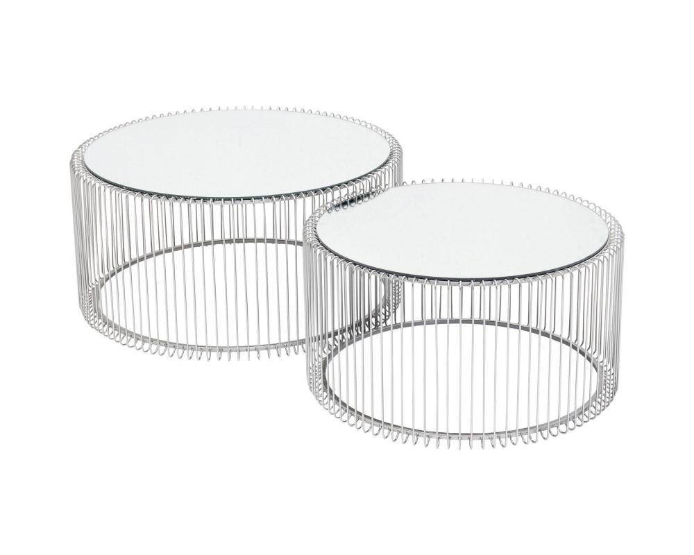 Стол кофейный Wire Silver (2/Set)