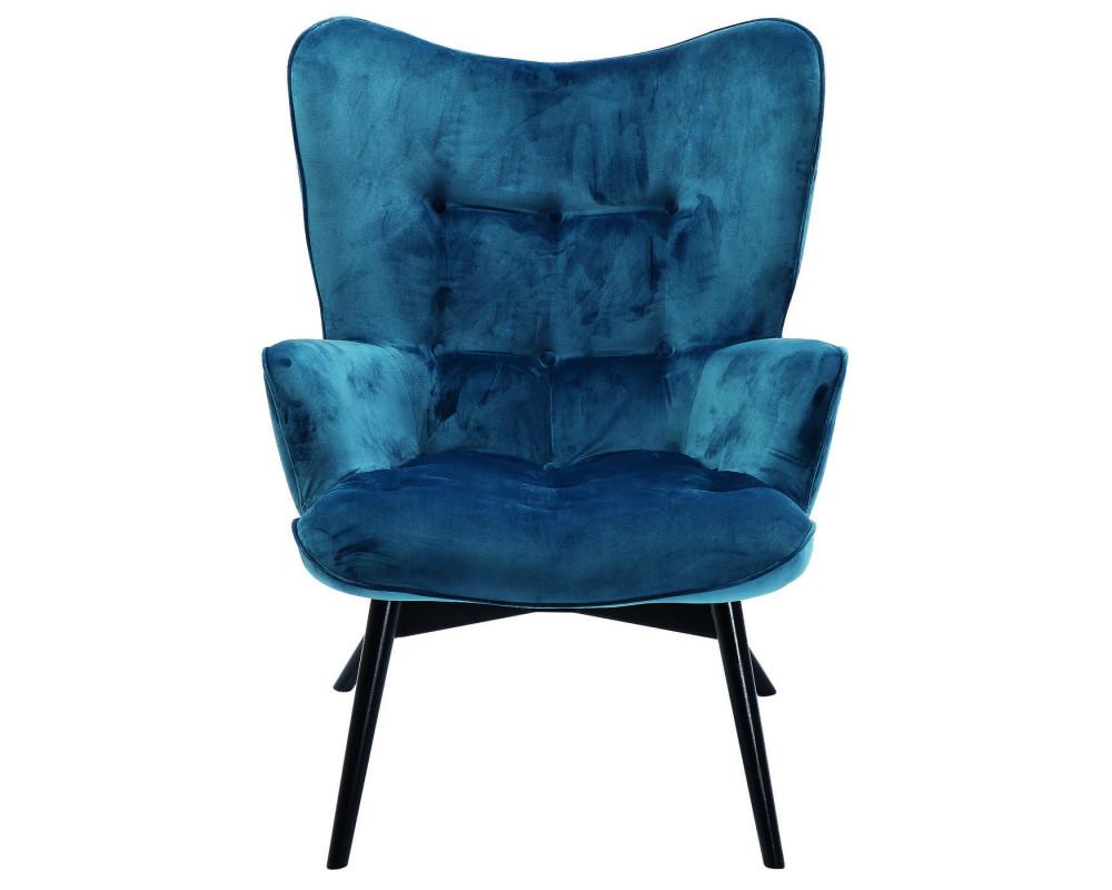 Кресло Black Vicky Velvet Bluegreen