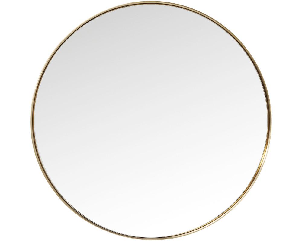 Зеркало Curve Round Brass Ø100cm