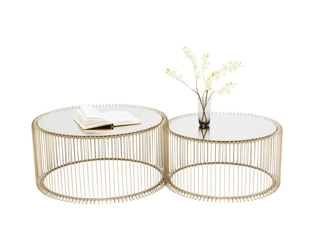 Стол кофейный Wire Brass (2/Set)