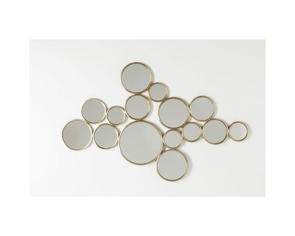 Зеркало Bubbles Brass 93x138cm