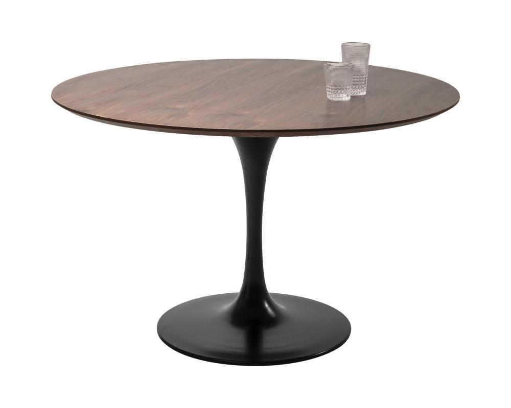 Стол Invitation Set Walnut Black Ø120cm