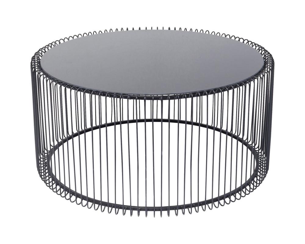 Стол кофейный Wire Uno Black Ø80cm