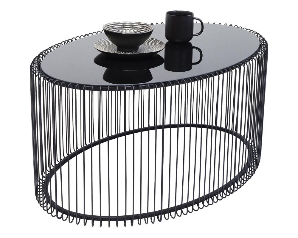 Стол кофейный Wire Uno Black 60x90cm