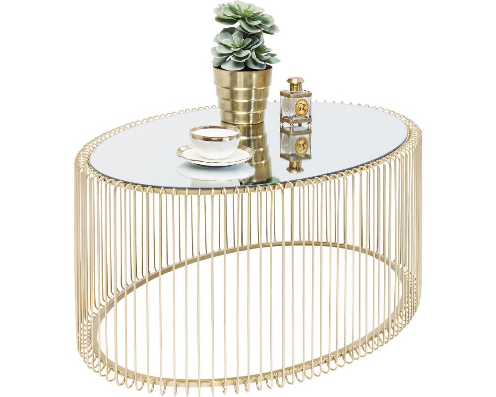 Стол кофейный Wire Uno Brass 60x90cm
