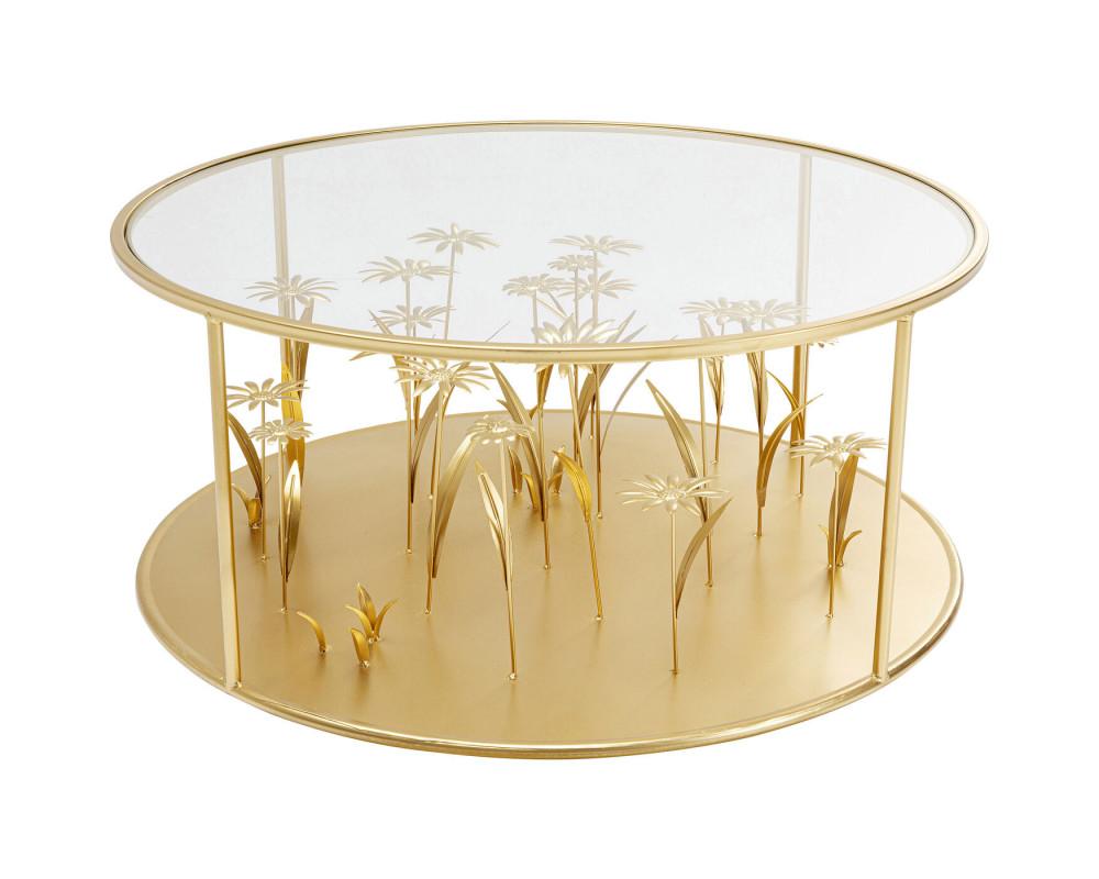 Стол кофейный Flower Meadow Gold Ø80cm
