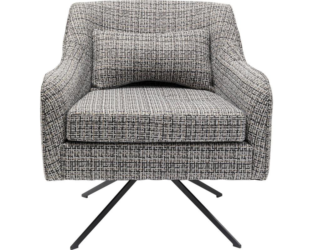 Кресло вращающееся Iceland Black White