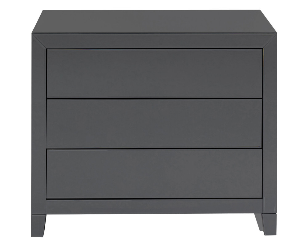 Dresser Luxury Push 3 Drawers Grey