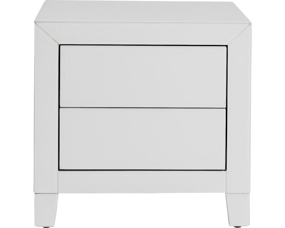 Dresser Small Luxury Push 2 Drawers White