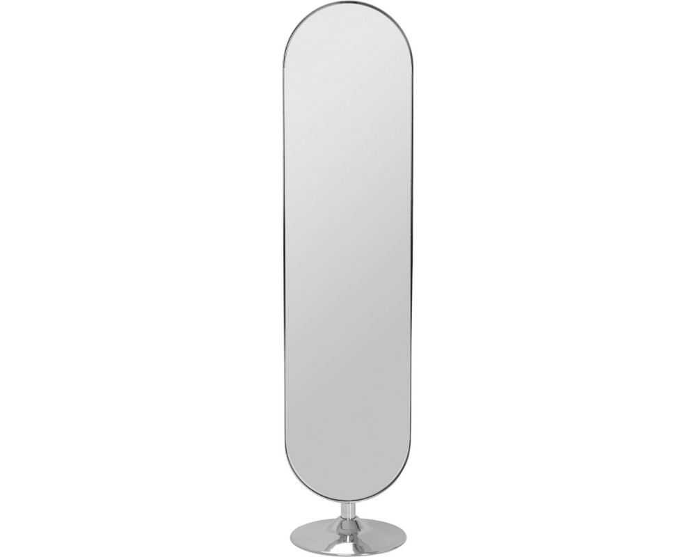 Floor Mirror Curvy Chrom Look 170x40