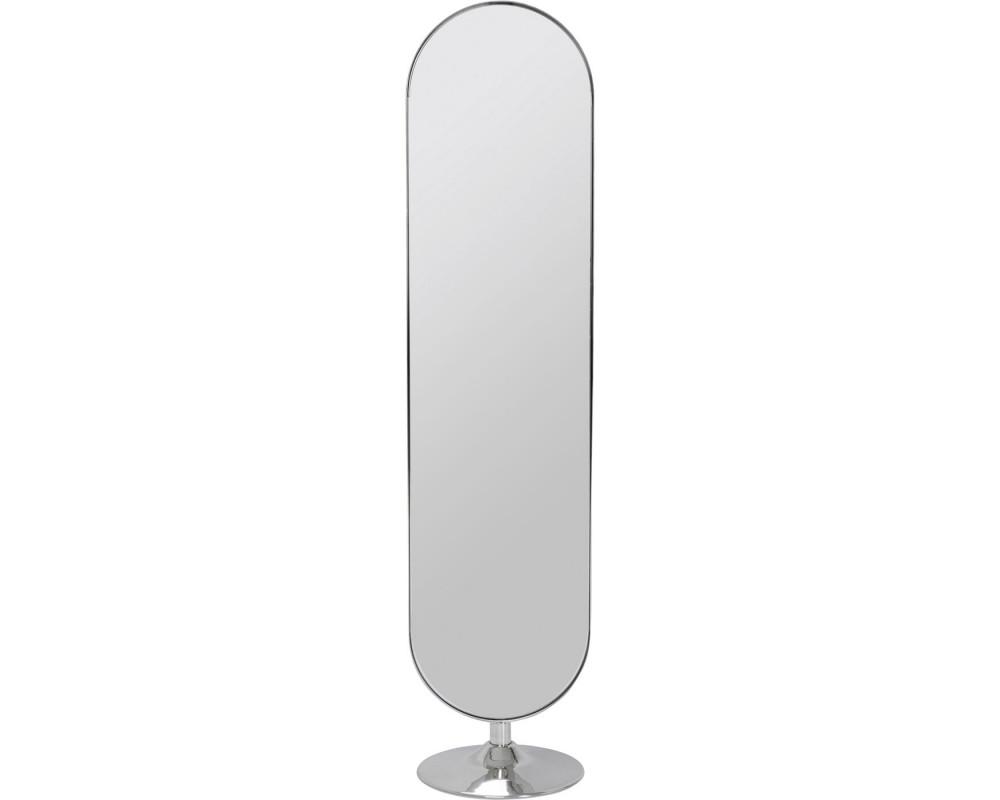 Floor Mirror Curvy Chrom Look 170x40