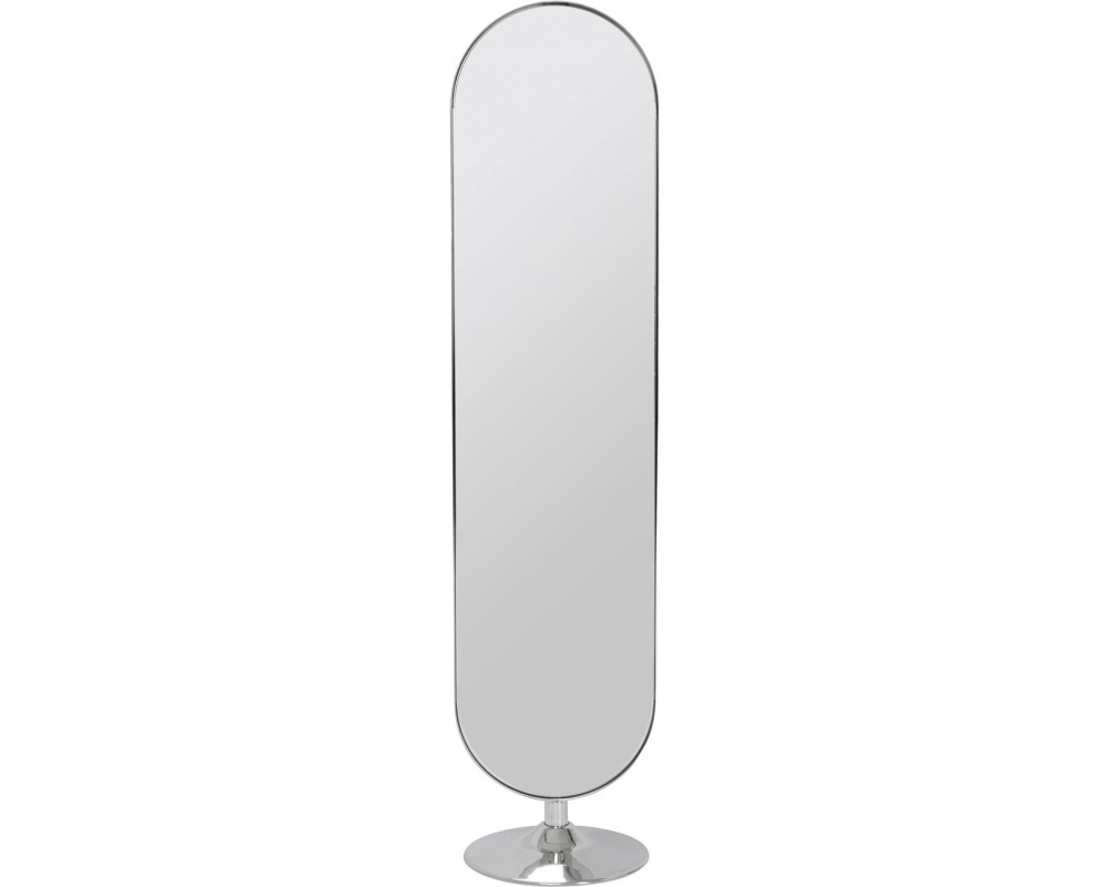 Floor Mirror Curvy MO Chrom Look 170x40