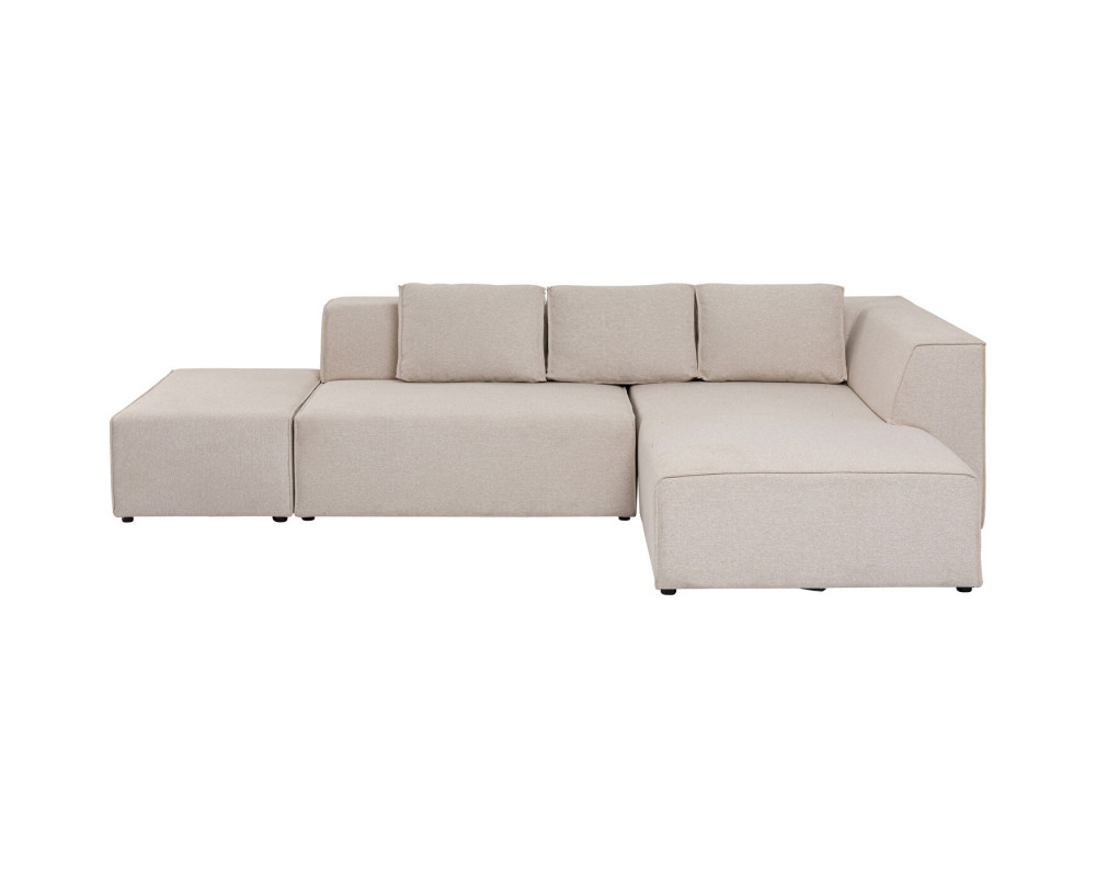Corner Sofa Infinity Ottomane Creme Right