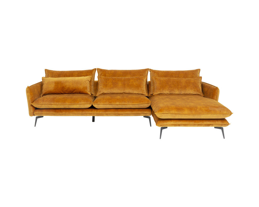 Corner Sofa Ferrara Right Curry 296cm